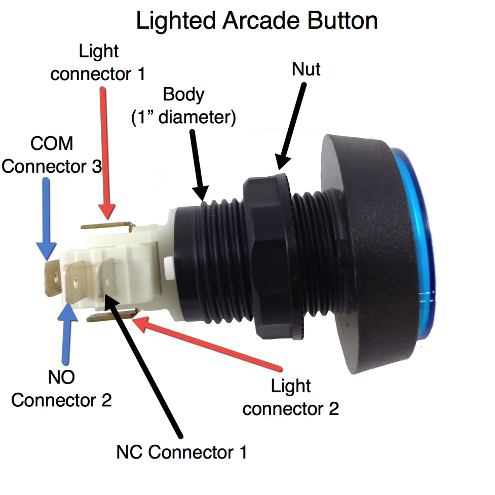 stealthswitch3 arcade button installation info for diy photo booth rh stealthswitch3 com led arcade button wiring diagram Arcade Joystick Wiring